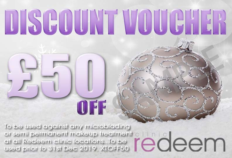 £50 off microblading discount voucher